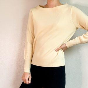 J CREW Ivory / Cream Merino Wool Sweater XS